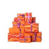 Cadres de cadeau avec la proue Photo stock