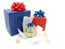 Cadres de cadeau avec le parfum Photos libres de droits