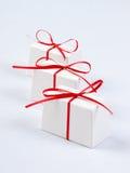 Cadres de cadeau blancs Image stock