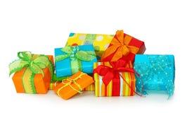 Cadres de cadeau colorés Image libre de droits