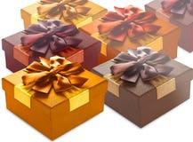 Cadres de cadeau colorés Photo stock