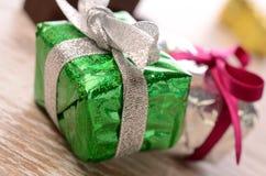 Cadres de cadeau colorés Images libres de droits