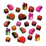 Cadres de cadeau colorés illustration de vecteur