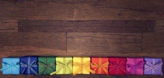 Cadres de cadeau colorés Image stock