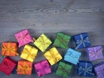 Cadres de cadeau colorés Photo libre de droits