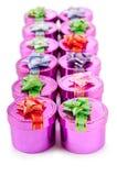 Cadres de cadeau dans le concept de célébration Photographie stock libre de droits