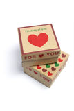Cadres de cadeau de coeur d'amour Image libre de droits