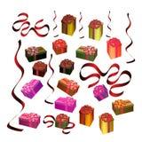 Cadres de cadeau de fête illustration de vecteur