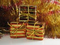 Cadres de cadeau de Noël Photo libre de droits