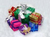 Cadres de cadeau de Noël. Image libre de droits