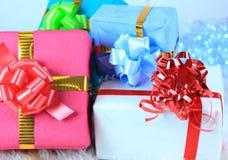 Cadres de cadeau de Noël Image stock