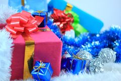 Cadres de cadeau de Noël Photos stock