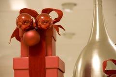 Cadres de cadeau de Noël Photographie stock