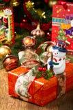 Cadres de cadeau de Noël Image libre de droits