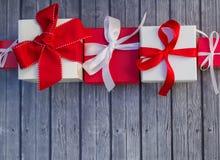 Cadres de cadeau de vacances Images stock