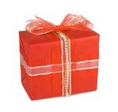 Cadres de cadeau de vacances avec des proues et des bandes Photographie stock