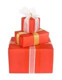 Cadres de cadeau de vacances décorés des proues Image libre de droits