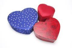Cadres de cadeau en forme de coeur photos stock