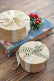 Cadres de cadeau ronds Image stock