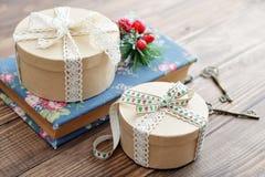 Cadres de cadeau ronds Photos libres de droits