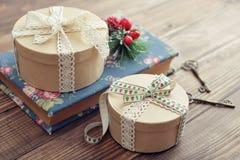 Cadres de cadeau ronds Image libre de droits