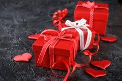 Cadres de cadeau rouges Image stock
