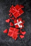 Cadres de cadeau rouges Photo stock