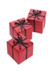 Cadres de cadeau rouges Images libres de droits