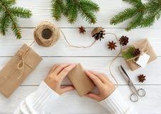 Cadres de cadeau sur le blanc Photo libre de droits