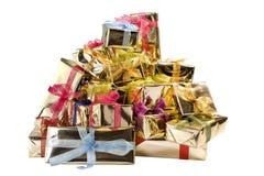 Cadres de cadeau sur le blanc Photo stock