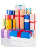 Cadres de cadeau sur le fond blanc Photos stock