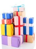 Cadres de cadeau sur le fond blanc Photo libre de droits