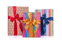 Cadres de cadeau sur un fond blanc Plan rapproché photos libres de droits