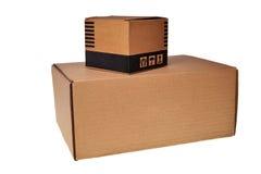 Cadres de carton de Brown. Photos libres de droits