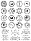 Cadres de cercle de vintage et éléments de conception Images stock