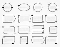 Cadres de citation illustration de vecteur