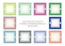 Cadres de citation avec la conception colorée illustration libre de droits