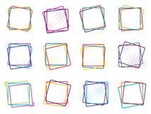 Cadres de couleur Photos stock