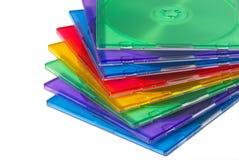 Cadres de couleur pour le disque compact d'ordinateur Photos stock