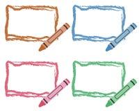 Cadres de crayon illustration stock