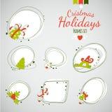 Cadres de dessin de vecteur de Joyeux Noël Photos libres de droits