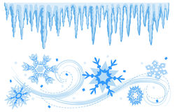 Cadres de drapeaux de l'hiver/ENV illustration stock