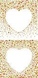 Cadres de feuille d'automne de forme de coeur Illustration de vecteur avec un masque de coupure images stock