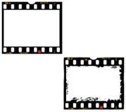 2 cadres de film, cadres de photo Image libre de droits