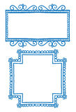 Cadres de griffonnage Image stock