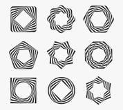 Cadres de label modernes de schéma Image libre de droits