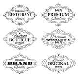 Cadres de labels de bannières de vecteur de vintage Photographie stock libre de droits