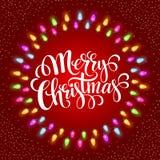 Cadres de lumières de Noël avec illustration stock