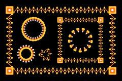 Cadres de maïs de sucrerie de Veille de la toussaint Images libres de droits