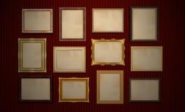 Cadres de musée ou de galerie Photo stock